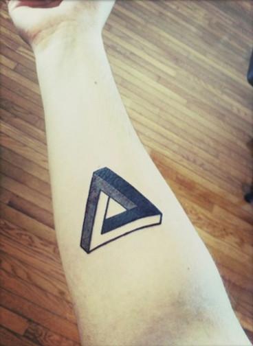 这种三角纹身代表什么意思?图片