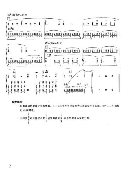 有什么好听的钢琴曲要简谱的图片