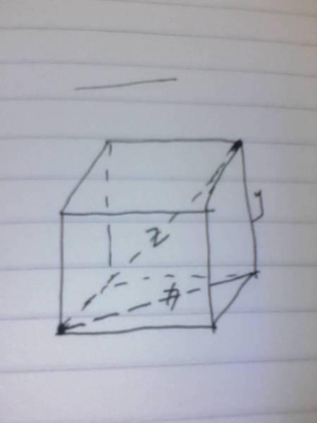 然后正方形的对角线,和另外一个边长,再组成一个直角三角形,斜边就是图片