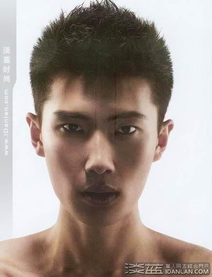 图片男生头发前面烫的什么样的发型图片