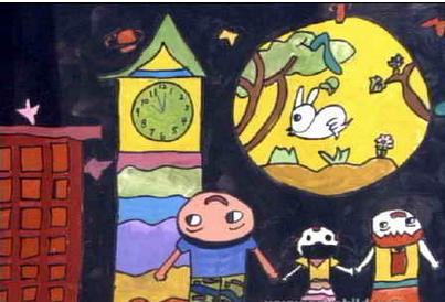 (如下图)中秋节怎么设计图画答:有月亮就好,月亮灰常关键是否可以解图片