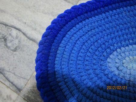 手工diy 毛线编织坐垫 钩针编织坐垫教程高清图片