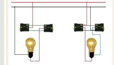一灯双控开关接线图图片