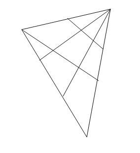 用12枚棋子摆成6行,每行4枚图片