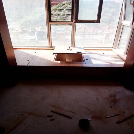 阳台是落地窗怎样做榻榻米高出窗子咋办