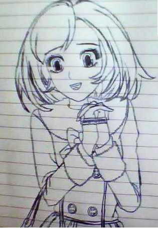 动漫女主铅笔画
