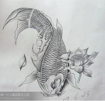 纹身图案鱼_百度知道图片