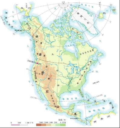 北美洲的地形特点