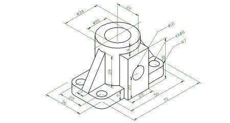用笔画3d立体画_cad怎么在平面画出立体图?(等轴侧图.).