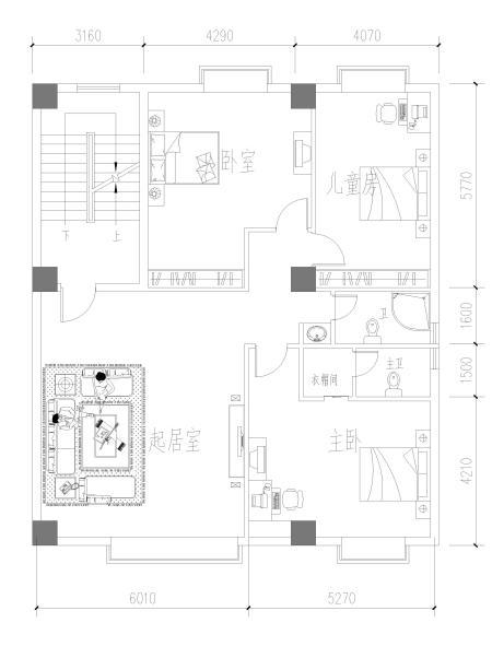 你好,你能帮我设计个房屋结构吗?用途:主卧,儿童房,两图片