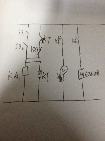 用继电器设计一个简单的气压机电路图图片