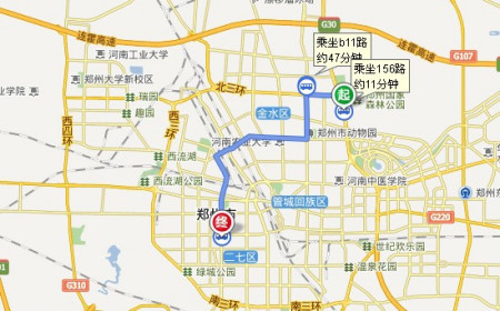 想知道: 郑州市 从森林公园到康桥溪山御府怎么坐公交图片