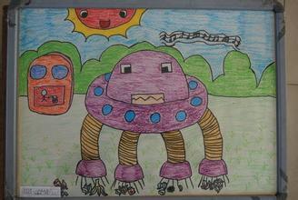 小学科学幻想画 青少年科学幻想画 五年级科学幻想画图片