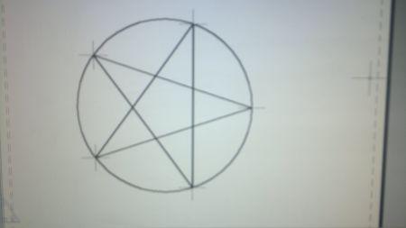 机械制图圆的内接五角星的画法图片