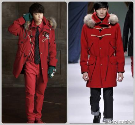 李东海海报上穿的红色大衣可以在哪里买到,拜托知道的告诉我拉,