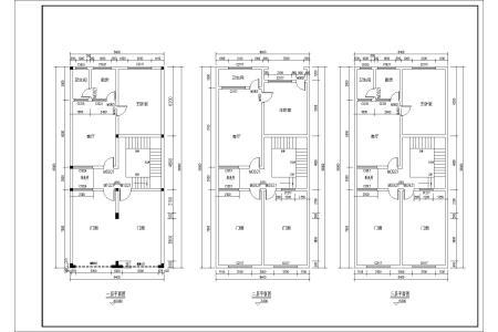 4米的房子设计图 两旁相连房屋不能采光 一楼前面7米做门面 后11米做图片