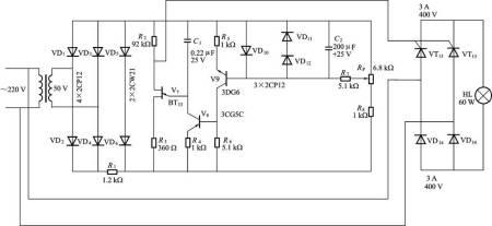 请讲解一下晶闸管调光电路原理!有图!有加分!有图!有加分!有图!图片