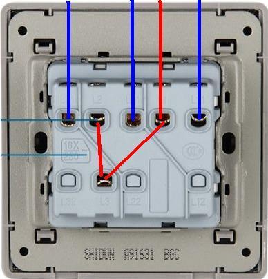 三开单控开关如何接线,最好画个草图,图片