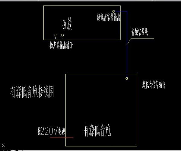 雅马哈功放机低音炮连接示意图高清图片