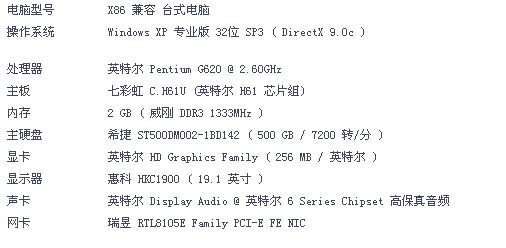 CPU换成I3 2130 显卡换成七彩虹iGame650 烈焰战神U D5 再加...