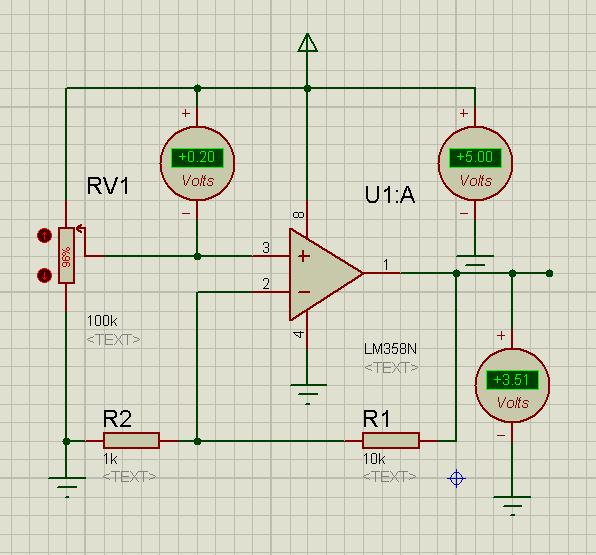 lm358放大电路问题我想用LM358放大直流mv级的电压信号,得放大图片