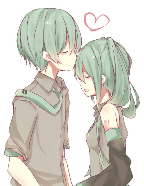 求几张高清的动漫少年和动漫少女亲吻的图片 两个人必须是长得好看的
