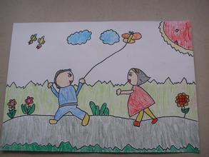 小学一年级画一幅春天的画 百度作业帮