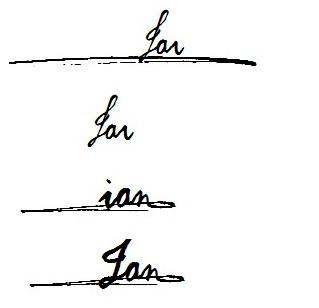英文名ian,怎么签名好看呢?图片
