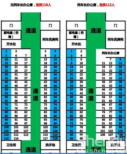 t297/298次列车硬座车厢临窗座位示意图   17号车厢:xl25k行高清图片