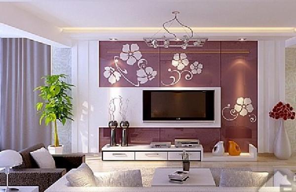 电视墙造型,请问那紫色的板材是什么,还有怎么弄到墙上的,如果