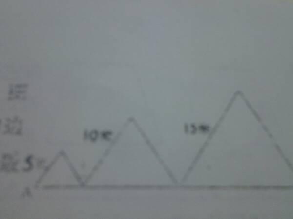 3个等边三角形组成这个图形,图形中角一是 度,沿着三角形的边从A