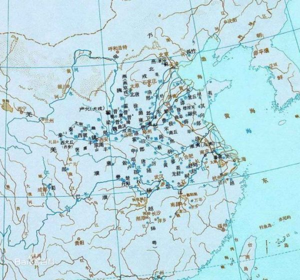 西周分封制示意图上位于长江中游的国家是哪个