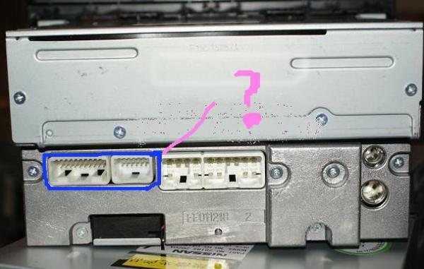 求丰田锐志6碟CD机后面接线图高清图片