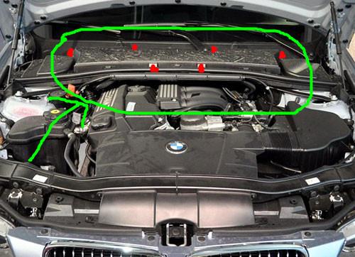 宝马320i空调滤清怎么更换高清图片