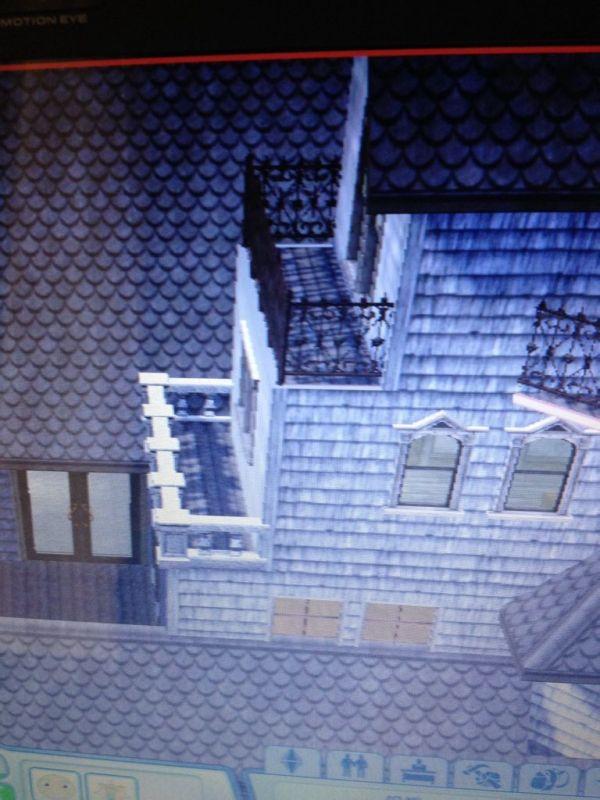模拟人生3 请问这种阳台怎么建,每次想在一间屋子上建阳台,屋顶就