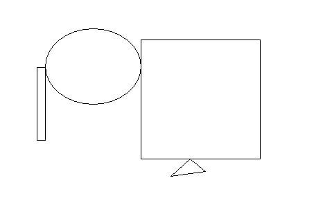 一个三角形 一个长方形图片