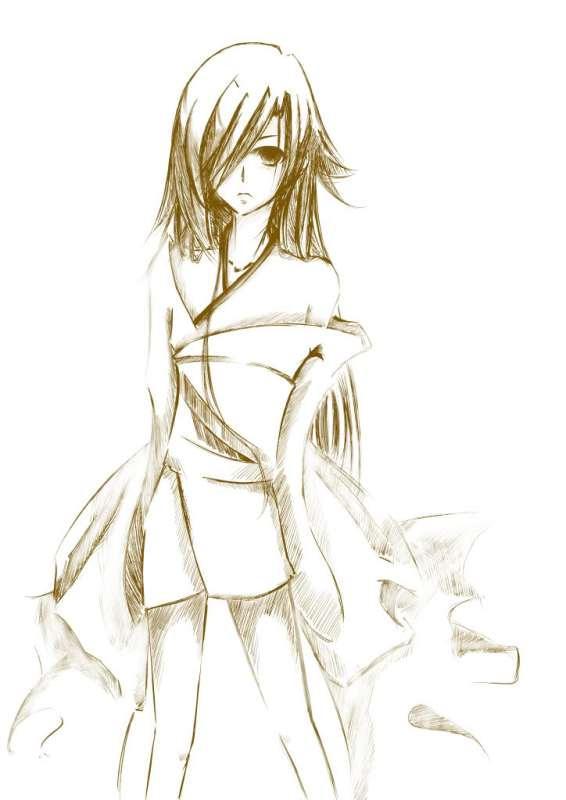 求简单的少女人物铅笔画,不要 -简单画的卡通人物 画卡通人物教程 图片