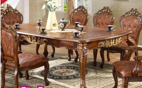 欧式餐桌什么颜色的好看图片