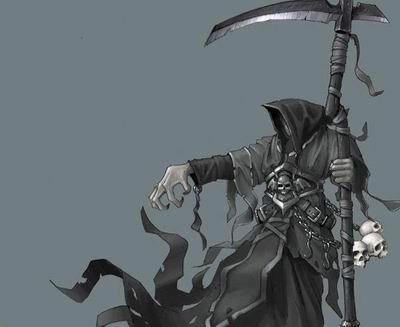 ... 六翼死神镰刀纹身_六翼骷髅镰刀死神头像_死神镰刀