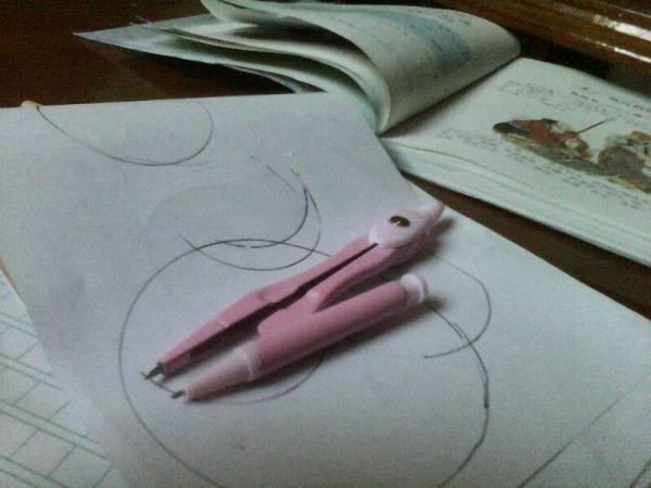 用圆规怎么画圆