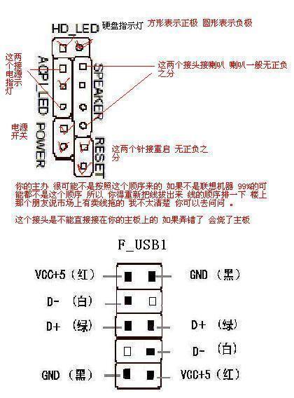 主板13针跳线连接方法图片