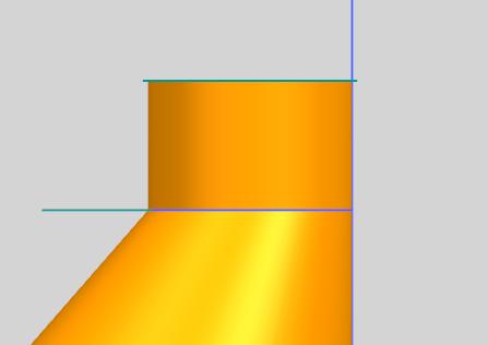 8.0中偏锥和圆柱体连接处如何倒圆角 如图所示图片