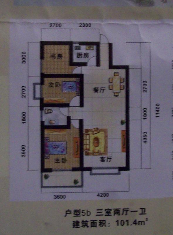 这个是西南户的.塔式结构,一梯4户,布局是否合理 住宅总11层,1