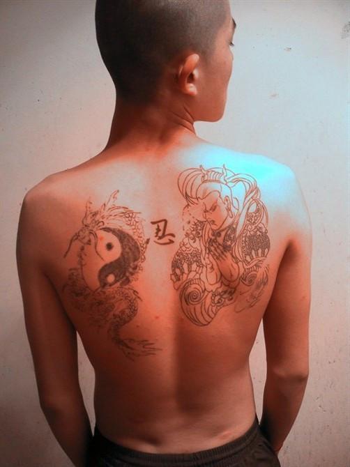 我有纹身,牛皮癣(马上痊愈)图片
