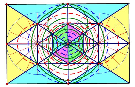 在长方形里制作有规律的图形