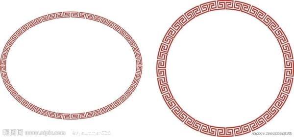 它是由古代陶器和青铜器上的雷纹衍化来的几何纹样图片