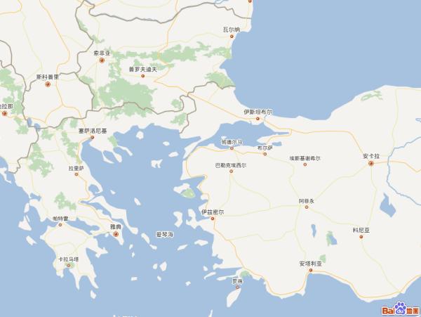 帮我找一个世界地图帮我指一指土耳其海峡在哪里