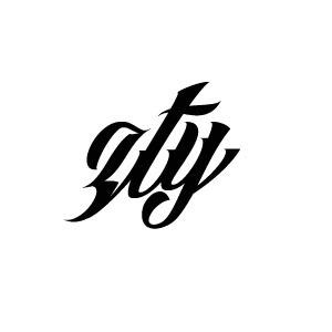 求帮忙制作一个白底黑字的字母头像 ZTY 各种字体 谢谢了
