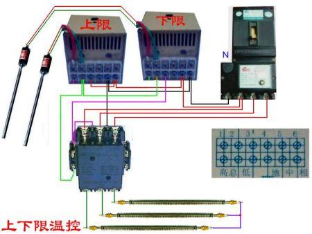 交流接触器实物接线图 各种组合电器接线图图片