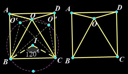 证明:正方形内一点o 角boc=60度,求三角形boc为正三角图片